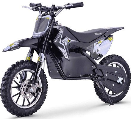 Electric Dirt Bike In Black And White