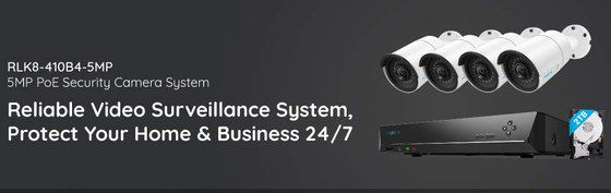 IP Security Camera System In White