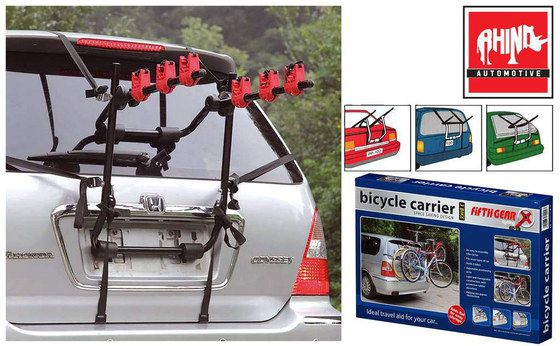 3 Bicycle Rear Bike Carrier With Blue Box