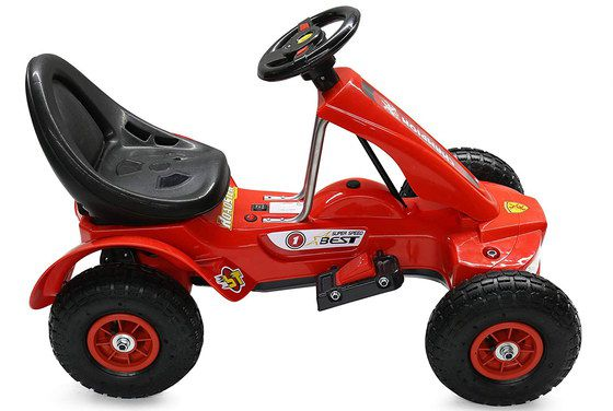 Battery Kids Kart Toy In Black And Red Finish