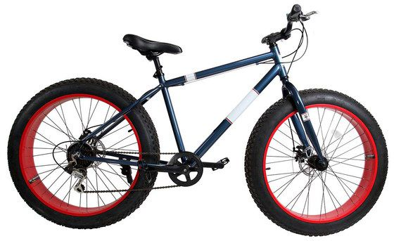 Fat Mountain Bicycle With Red Rims