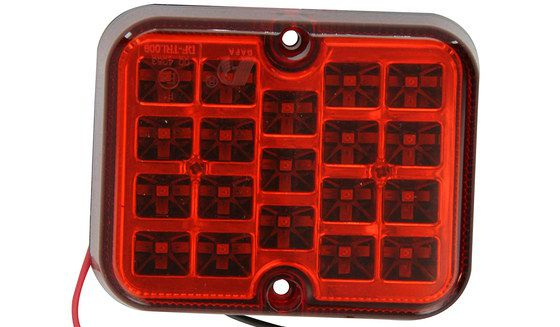 Square Rear Fog Lamp In Red