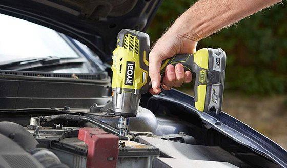 Electric Impact Wrench In Yellow And Black