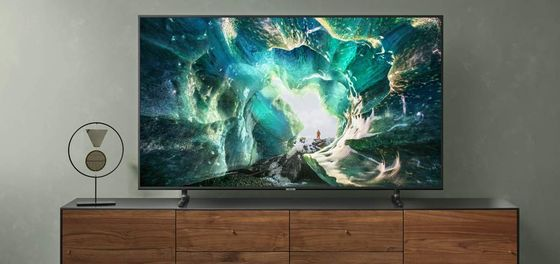 55 Inch 4K TV On Steel Stand