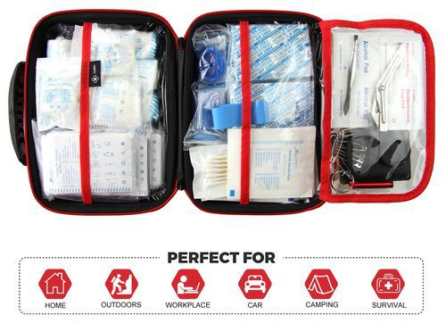 Mini First Aid Kit With Red Straps
