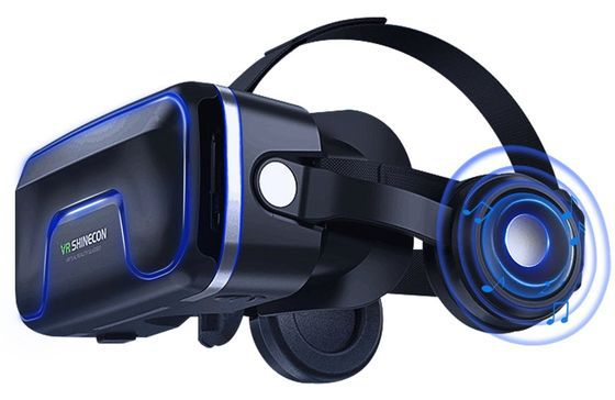 Phone VR Headset With Blue Front Flip