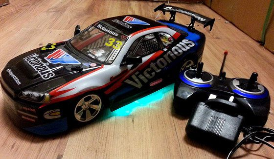 RC Drift Car With Black Remote Box