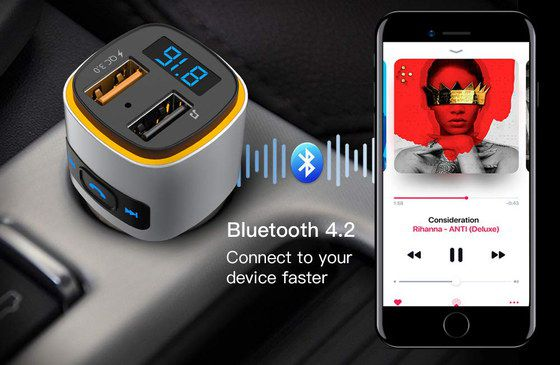 Bluetooth Wireless FM Transmitter 2 Slots