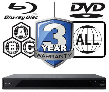 UHD Blu-Ray Player With Chrome Logo