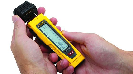 Wood Moisture Tester In Yellow And Black