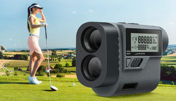 Golf Range Finder With Grey LCD