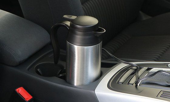 Steel Portable Kettle For Cars In Holder