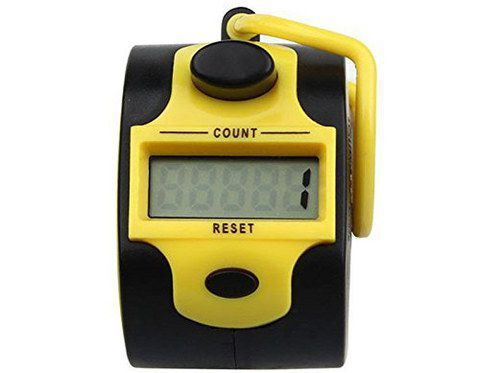 Hand Click Counter In Black And Yellow
