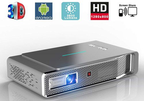 3D Smart Projector In Silver Finish