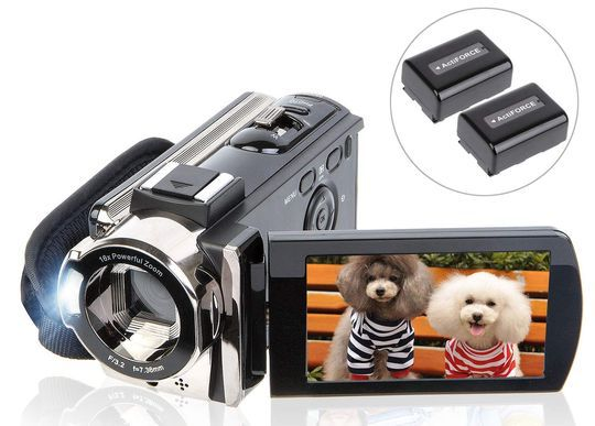 Video Camera For Vlogging With Metal Lens Case