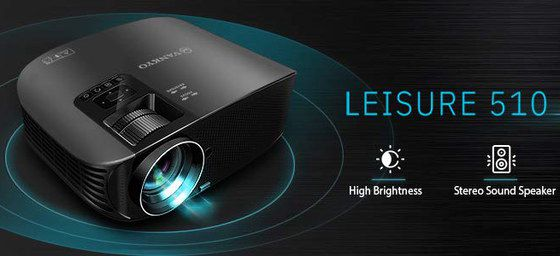 HD HDMI Projector With Black Casing