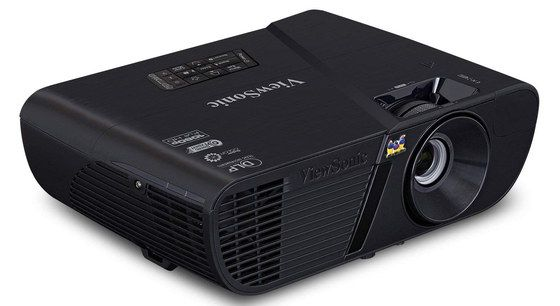 FHD 3D Projector All Black Exterior