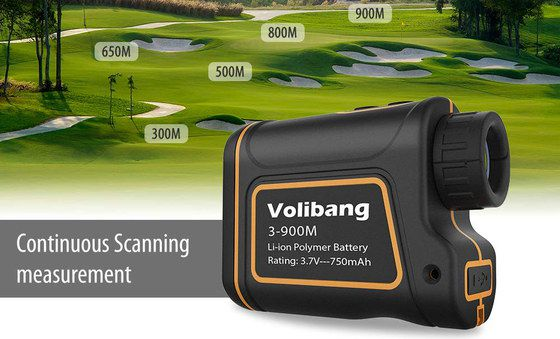 Golf Range Finder With Black And Red Casing