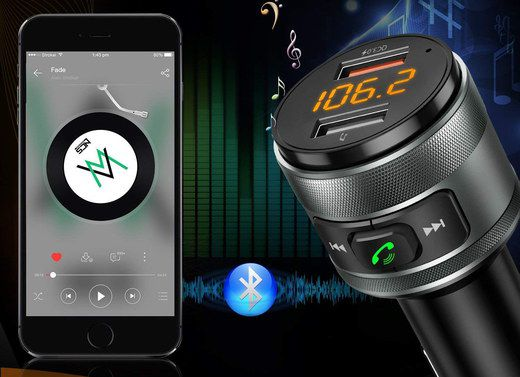 FM Transmitter Bluetooth Receiver With USB Slot