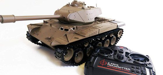 RC Battle Tank With Black Transmitter