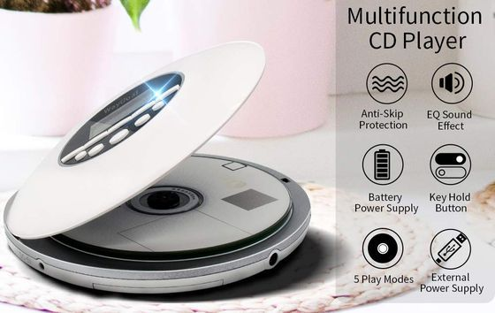 Portable Compact Disc Player In White