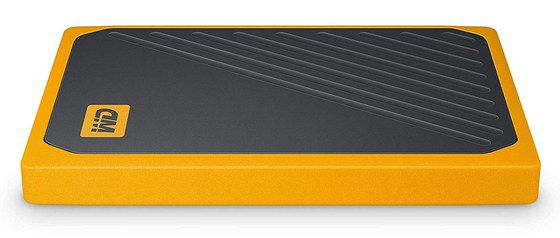 SSD External Hard Drive In Orange And Black