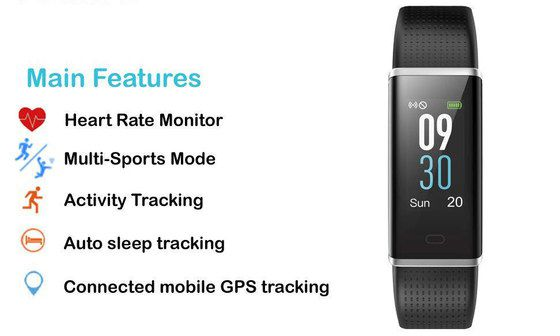 Exercise Tracker In Blue Sports Setting