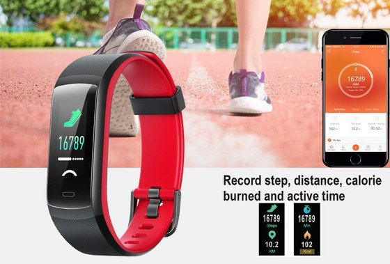 Sports Watch Heart-Rate Monitor In Black