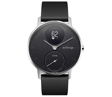 Smart Watch With Wide Black Band