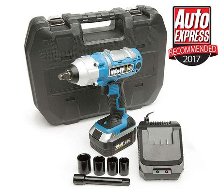 18V Cordless Impact Wrench In Blue With Case