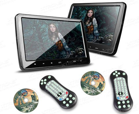 2x Car DVD Players With Black Exterior