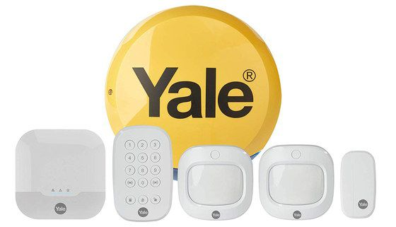 Domestic Wireless Burglar Alarm In Yellow Dome On Wall