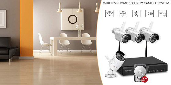 Wireless IP Camera With Black Recorder
