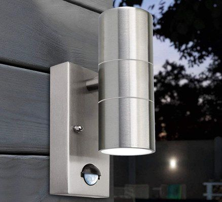 Steel PIR Up Down Style Wall Light