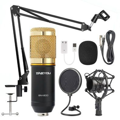 Recording Studio Microphone Kit With USB Wire