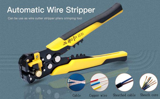 Wire Stripping Pliers Yellow And Black Grip