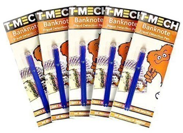 5 Pack Money Detector Pens In White And Brown Packaging