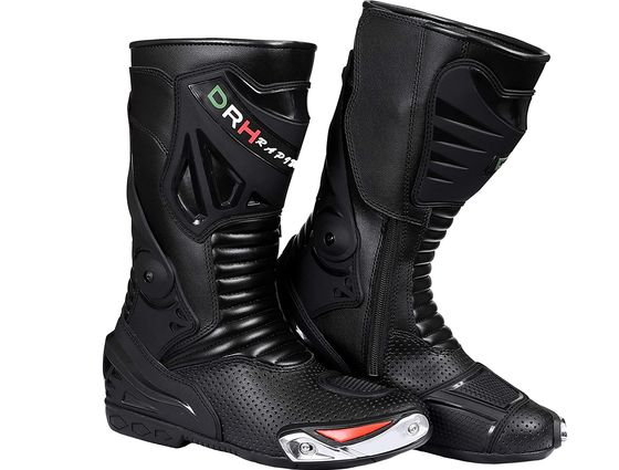 Sport Motorcycle Racing Boots In Black