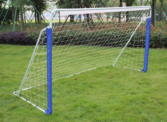 8 Foot Portable Football Goal With Blue Posts