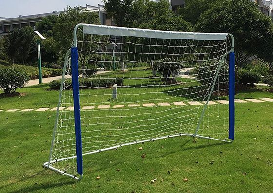 8 x 5ft Garden Football Goal With Blue Posts