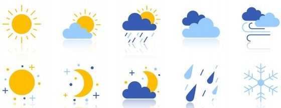 Bright Weather Station Icons