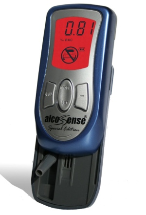 AlcoSense Digital Breath Alcohol Tester In Grey And Blue