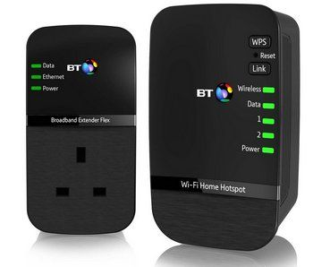 Wi-Fi Passthrough 500 Powerline Adapters In Black