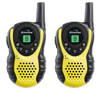 Walkie Talkie In Yellow And Black Plastic Exterior