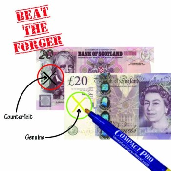 Fake Bank Note Tester Pen In Blue Casing