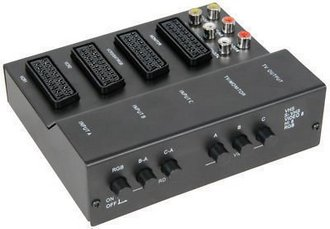 SCART 3 Way TV Switch Box With Control Panel