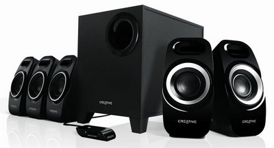 Subwoofer TV Speakers In Black With Remote