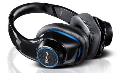 Denon AH-D401 Urban Raver Headphones In Black With Electric Blue