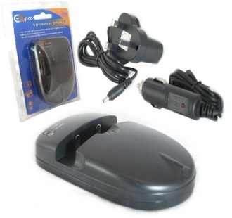 Camera Universal Charger In Black With Blue Packet
