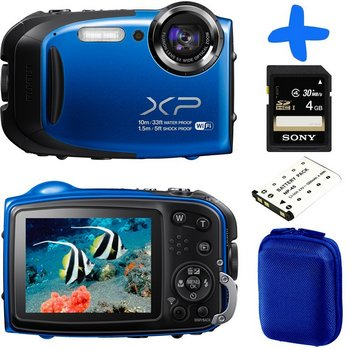 Fuji XP70 2.7 Inch LCD Digital Camera In Blue With Accessories